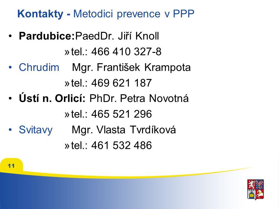 Kontakty - Metodici prevence v PPP
