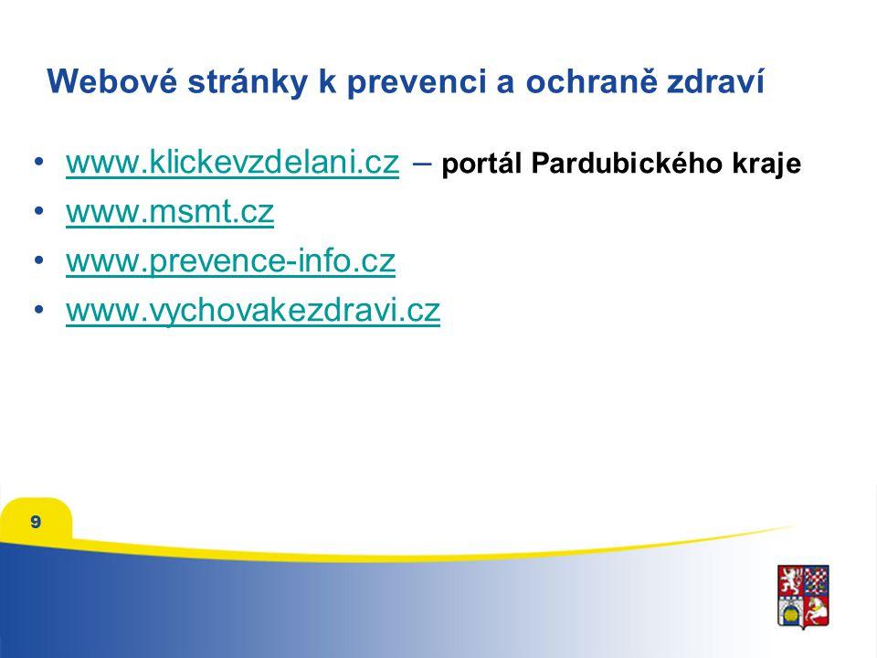 Webové stránky k prevenci a ochraně zdraví