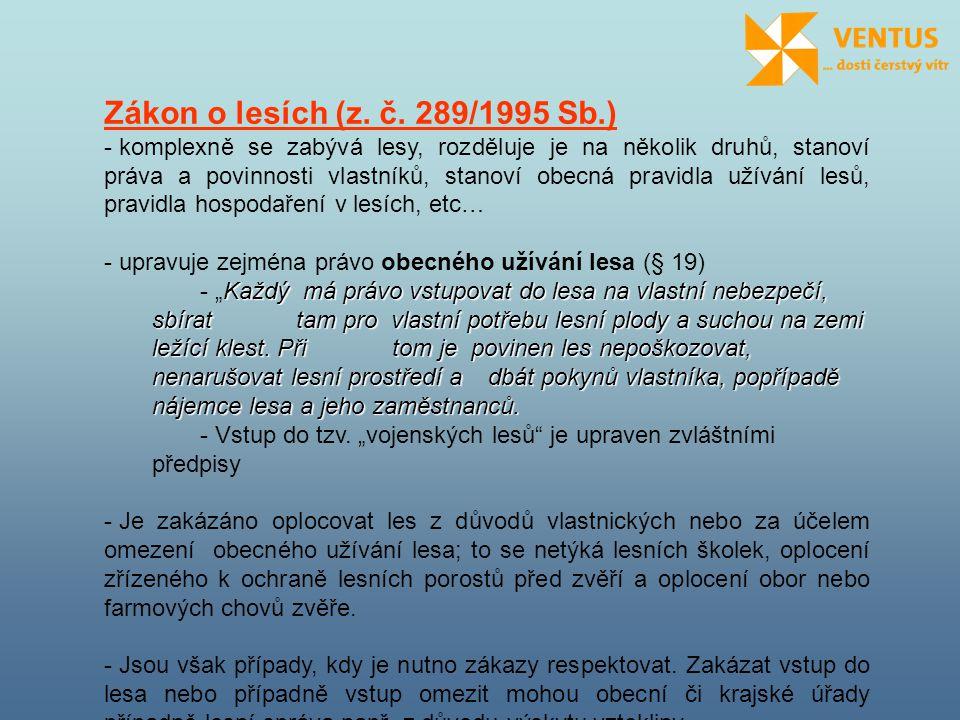 Zákon o lesích (z. č. 289/1995 Sb.)