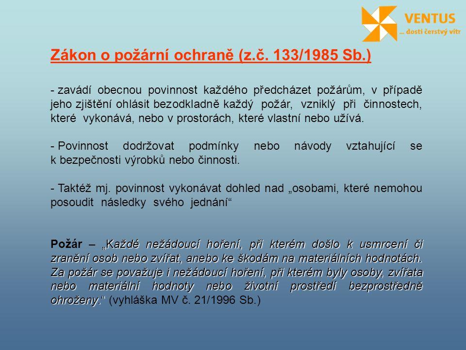 Zákon o požární ochraně (z.č. 133/1985 Sb.)