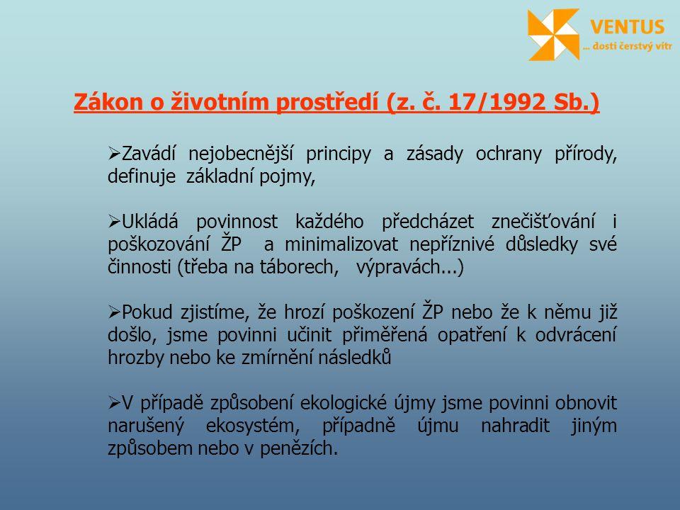Zákon o životním prostředí (z. č. 17/1992 Sb.)