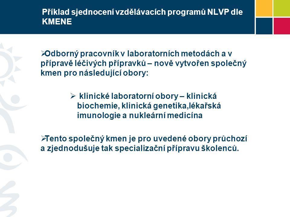 Příklad sjednocení vzdělávacích programů NLVP dle KMENE