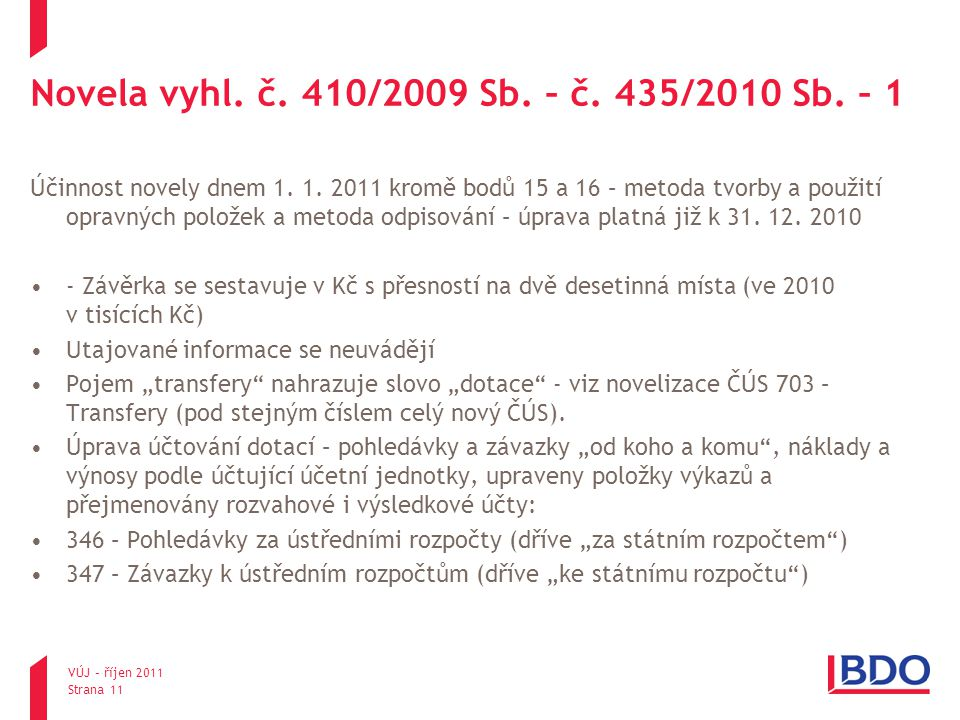 Novela vyhl. č. 410/2009 Sb. – č. 435/2010 Sb. – 1