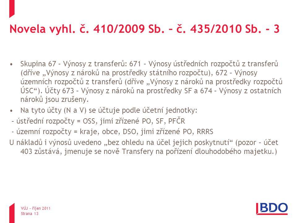 Novela vyhl. č. 410/2009 Sb. – č. 435/2010 Sb. - 3