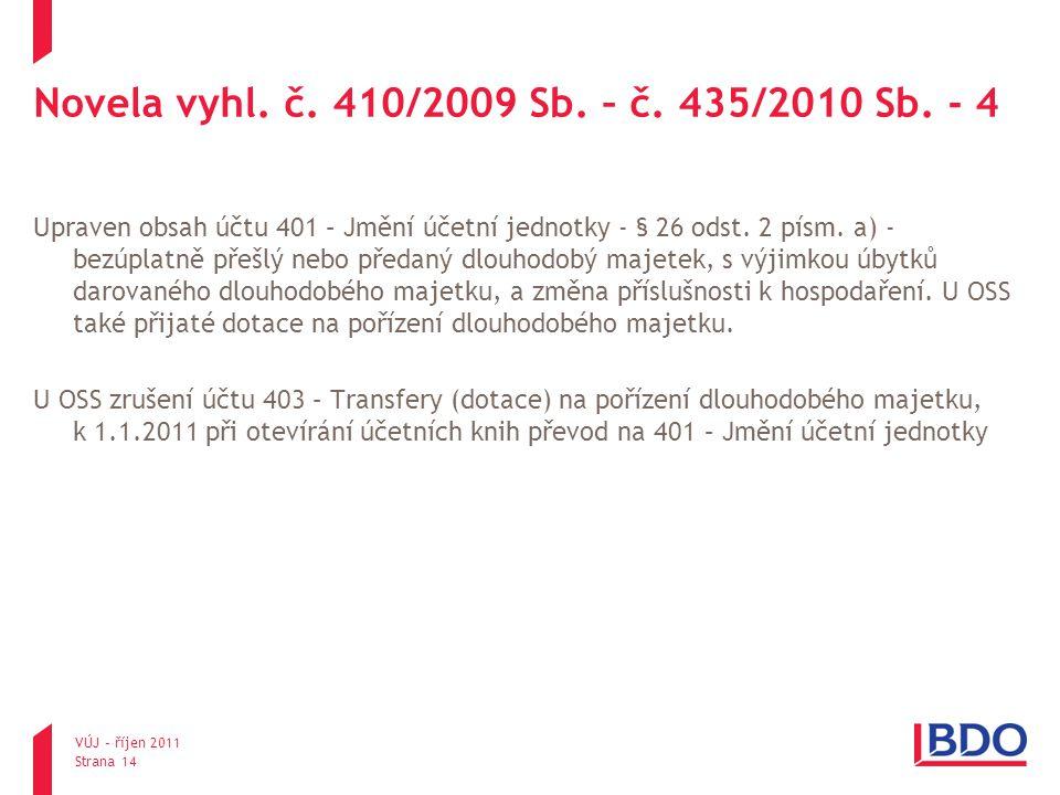 Novela vyhl. č. 410/2009 Sb. – č. 435/2010 Sb. - 4