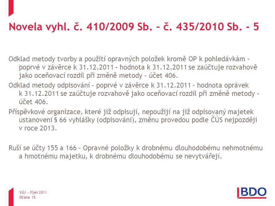 Novela vyhl. č. 410/2009 Sb. – č. 435/2010 Sb. - 5