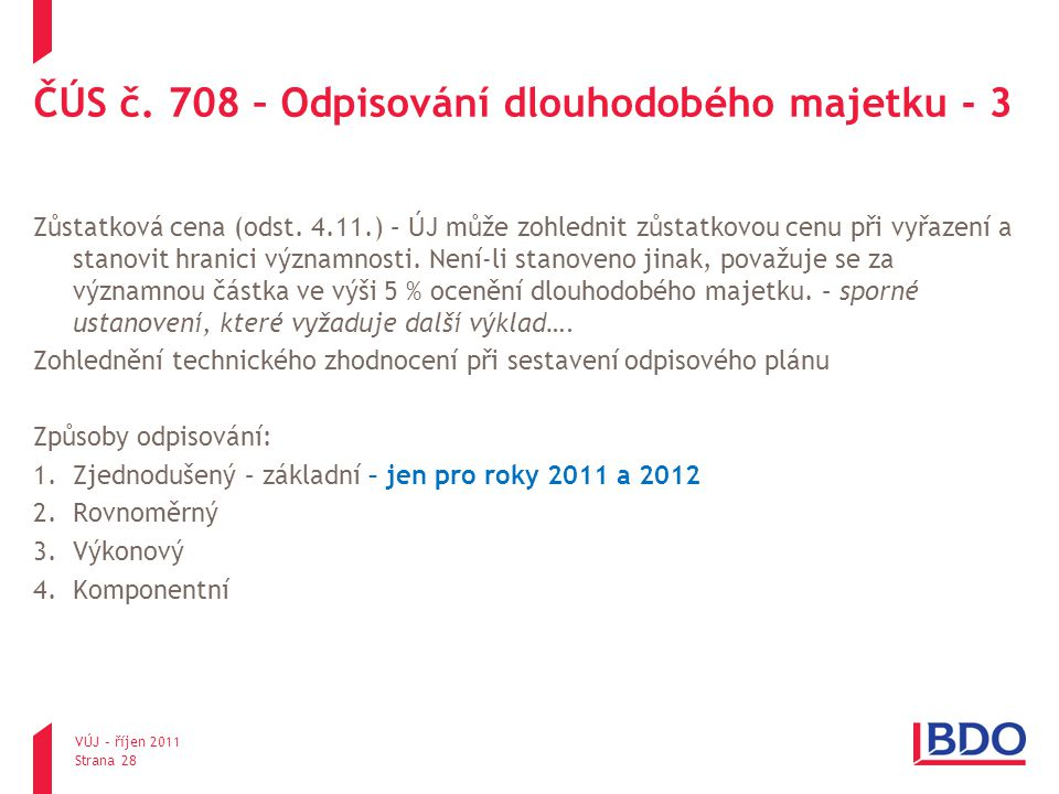ČÚS č. 708 – Odpisování dlouhodobého majetku - 3