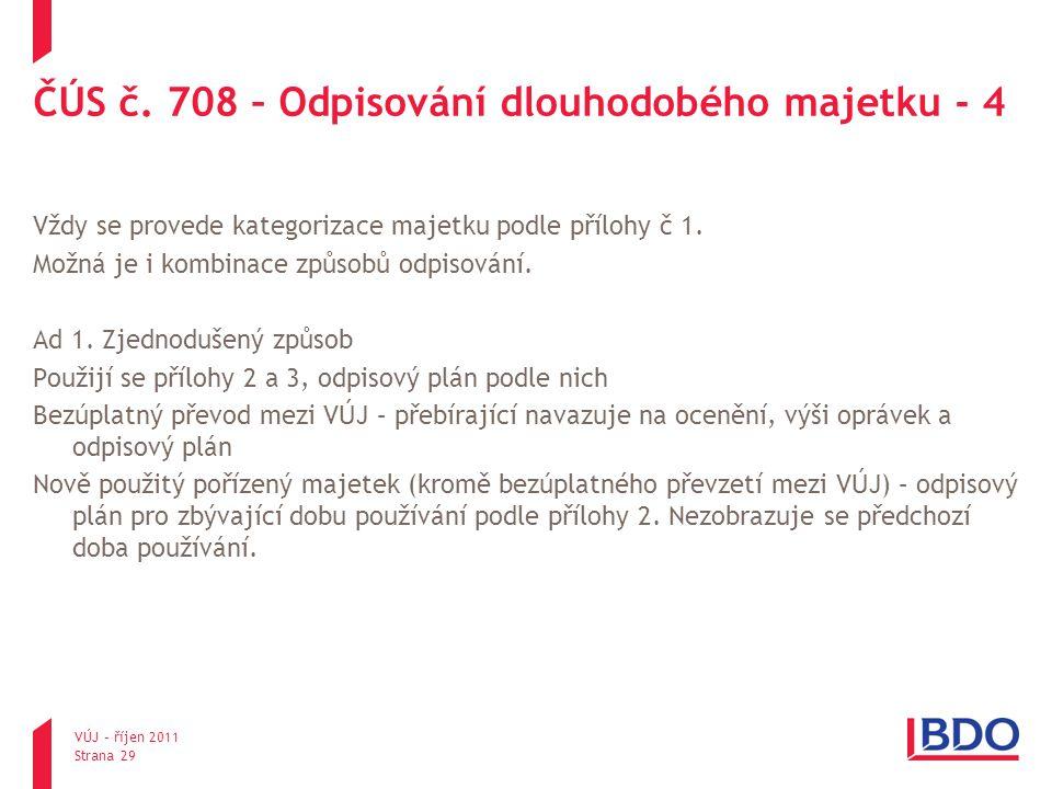 ČÚS č. 708 – Odpisování dlouhodobého majetku - 4