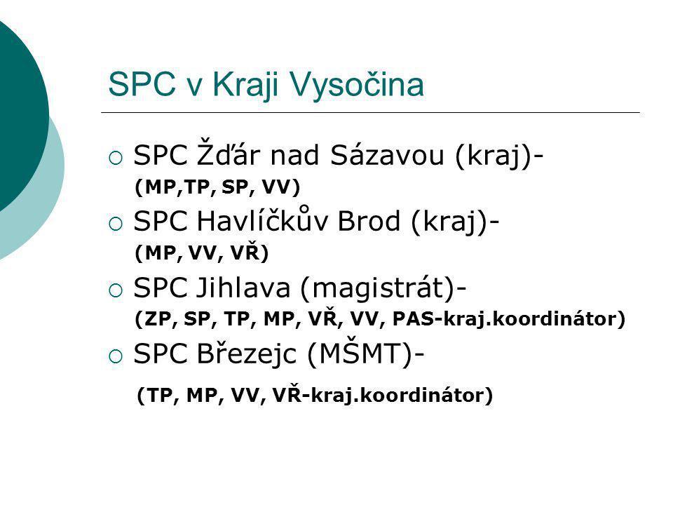 SPC v Kraji Vysočina SPC Žďár nad Sázavou (kraj)-