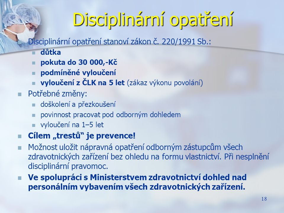 Disciplinární opatření