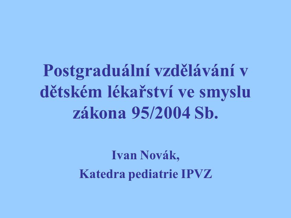 Ivan Novák, Katedra pediatrie IPVZ