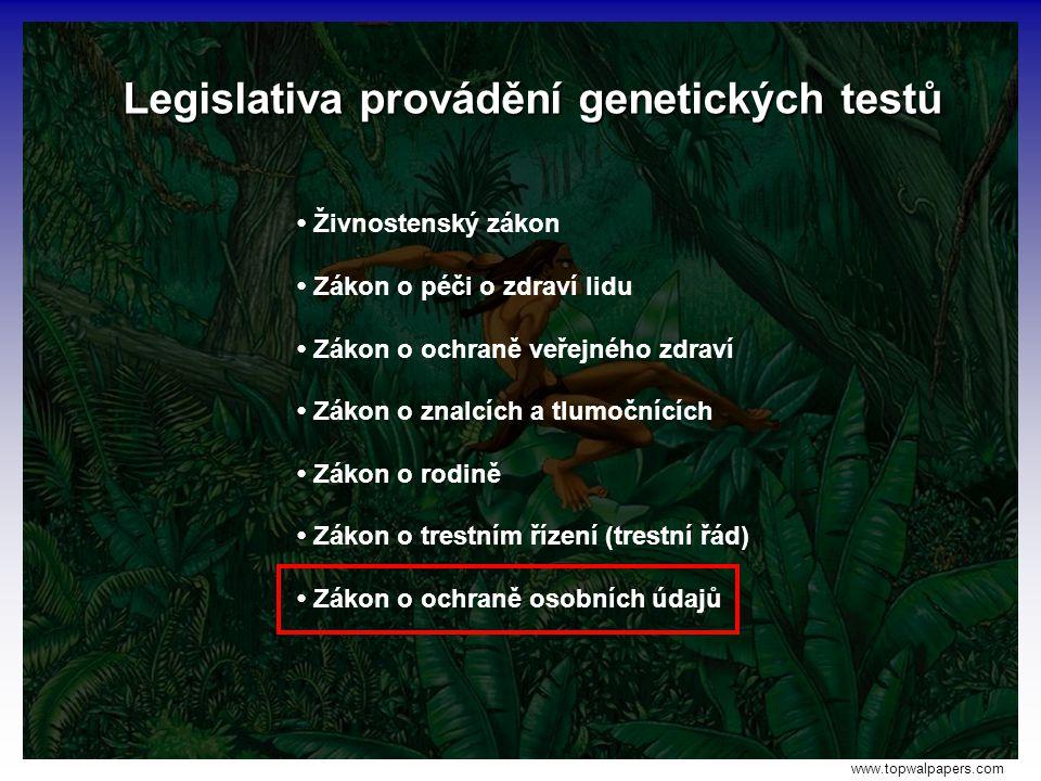Legislativa provádění genetických testů