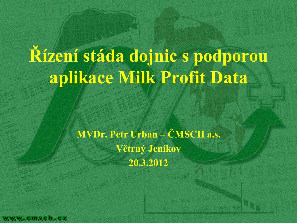 Řízení stáda dojnic s podporou aplikace Milk Profit Data