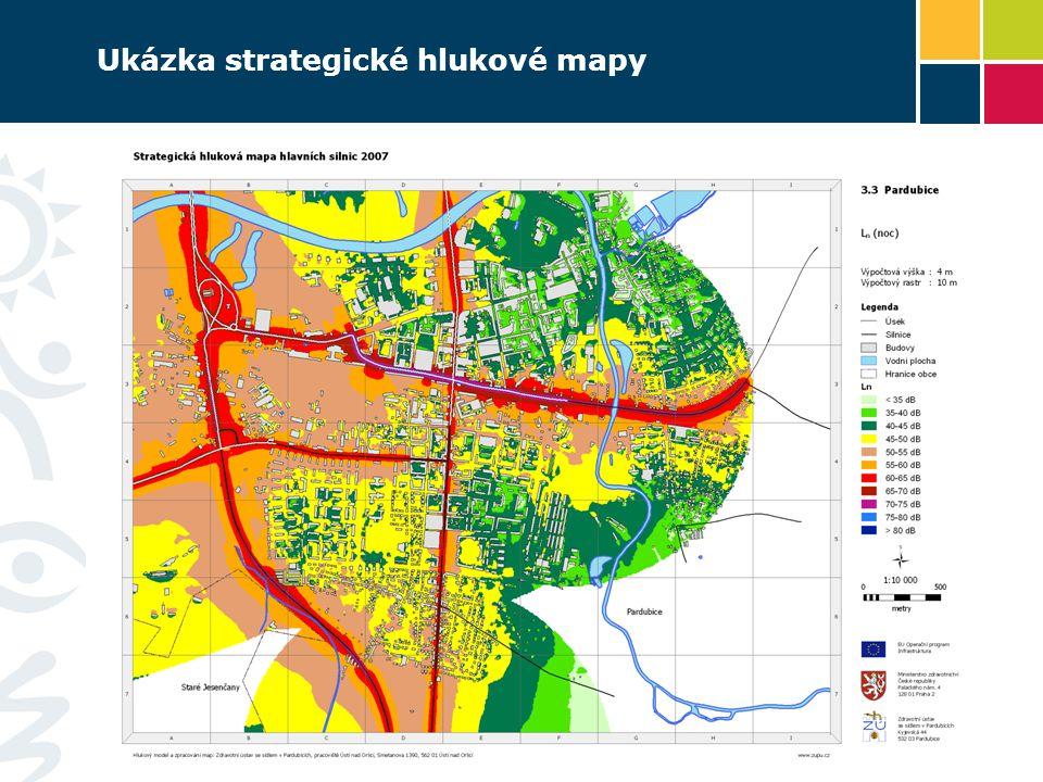 Ukázka strategické hlukové mapy