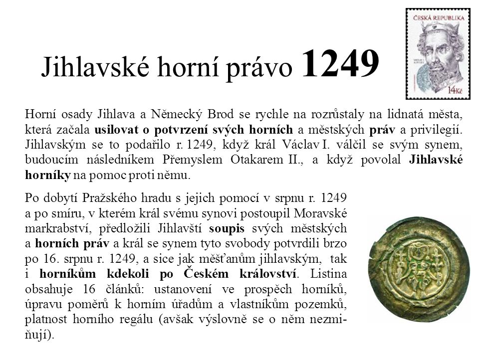 Jihlavské horní právo 1249