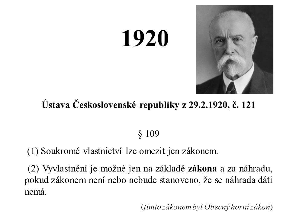 Ústava Československé republiky z 29.2.1920, č. 121