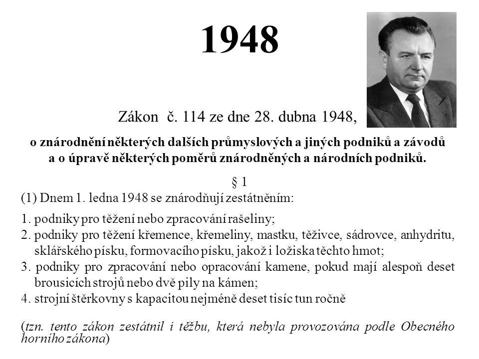 1948 Zákon č. 114 ze dne 28. dubna 1948,