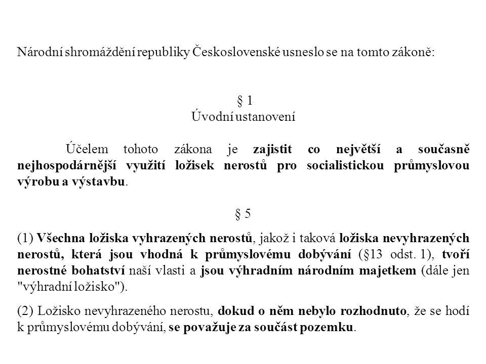 Národní shromáždění republiky Československé usneslo se na tomto zákoně: