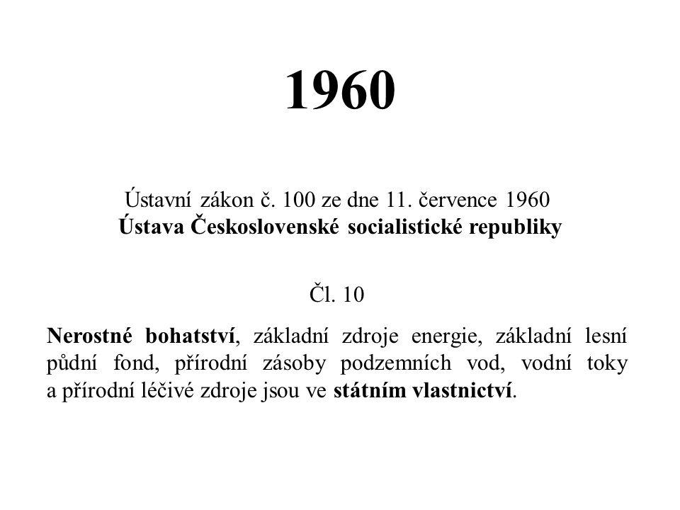 1960 Ústavní zákon č. 100 ze dne 11. července 1960