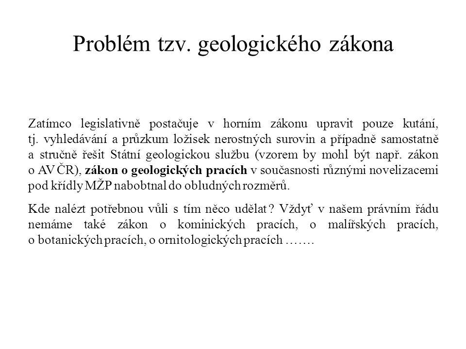 Problém tzv. geologického zákona