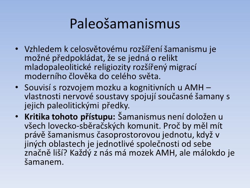 Paleošamanismus