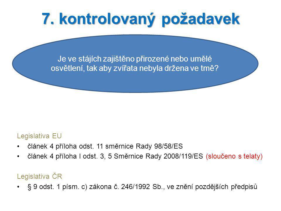 7. kontrolovaný požadavek