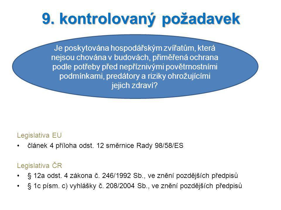 9. kontrolovaný požadavek