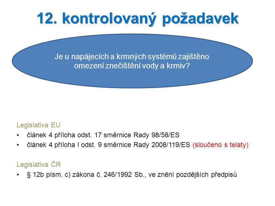 12. kontrolovaný požadavek