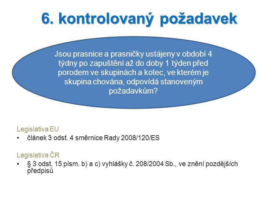 6. kontrolovaný požadavek