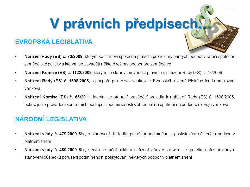 V právních předpisech…