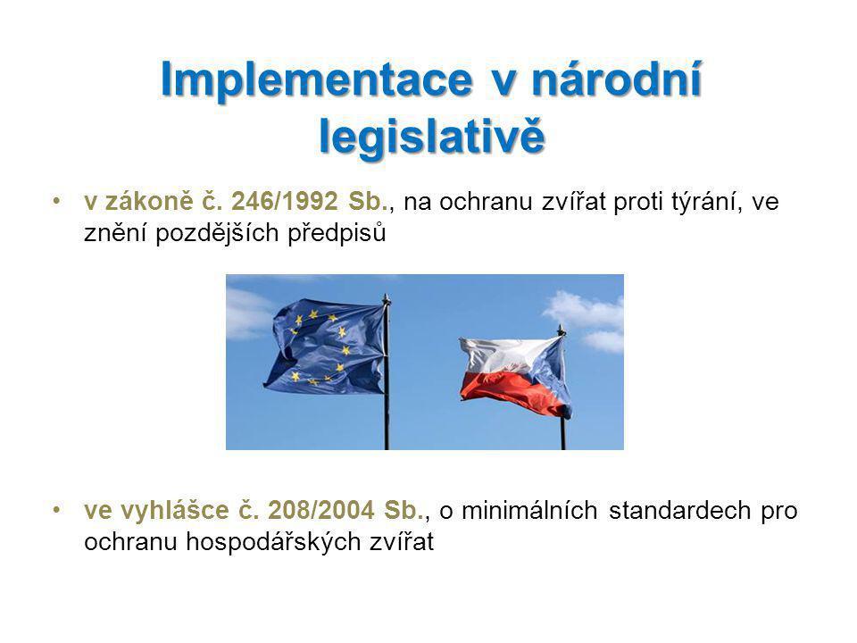 Implementace v národní legislativě