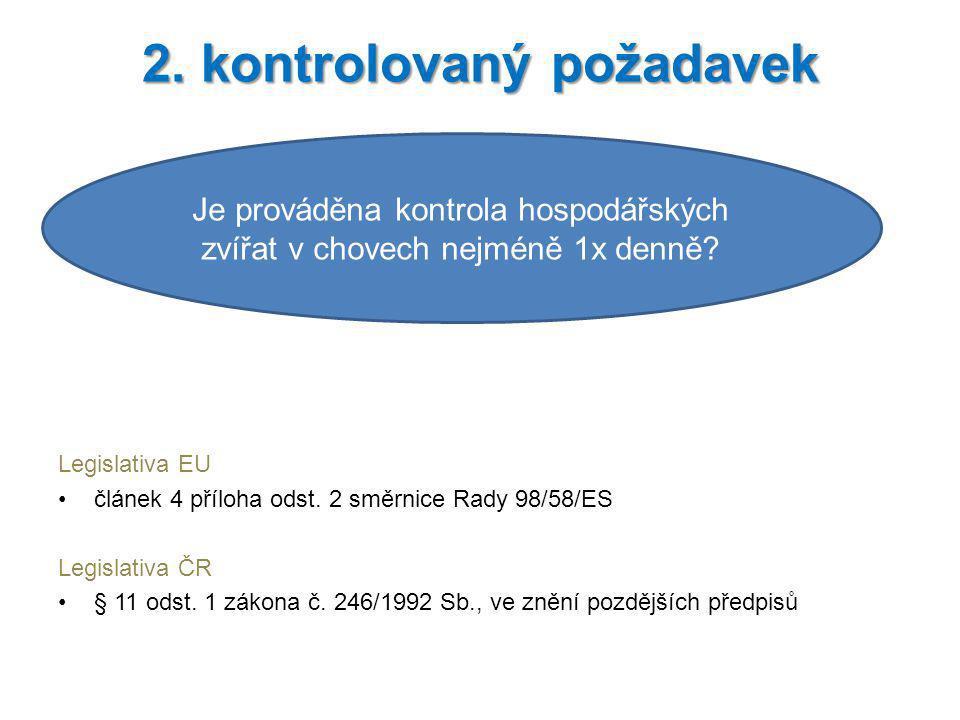 2. kontrolovaný požadavek