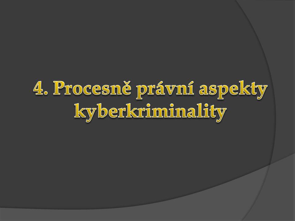 4. Procesně právní aspekty kyberkriminality