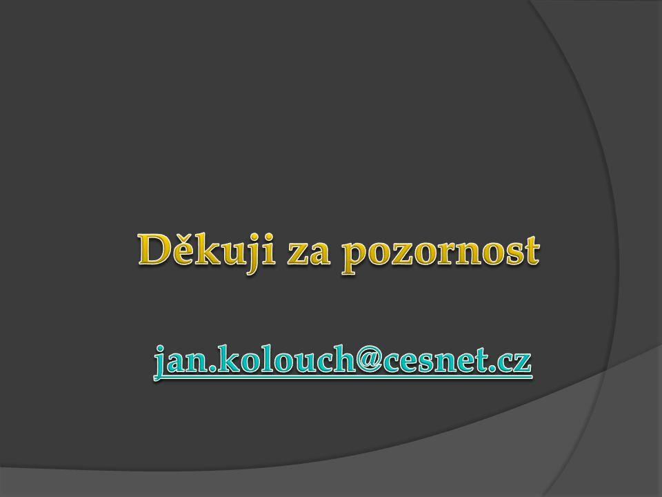 Děkuji za pozornost jan.kolouch@cesnet.cz