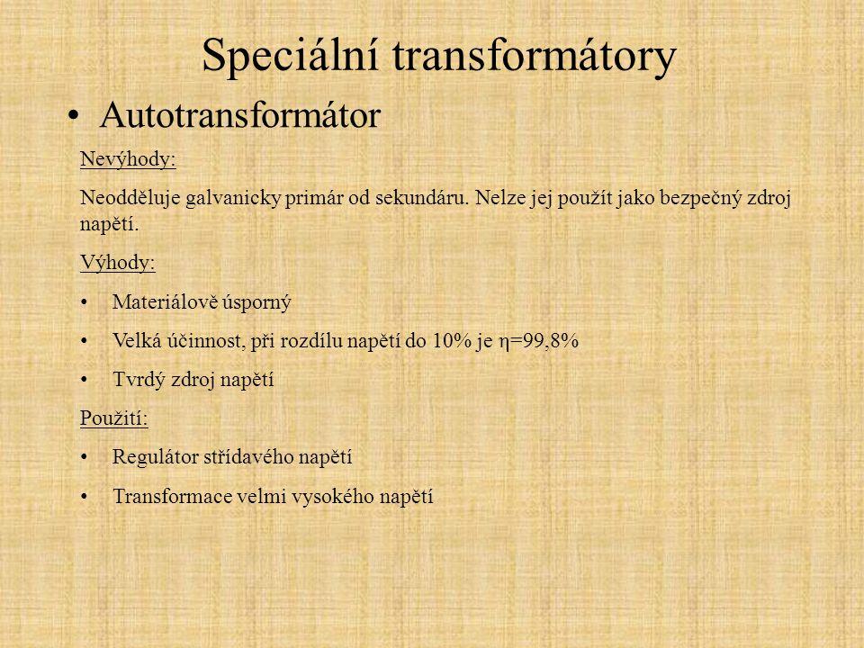 Speciální transformátory
