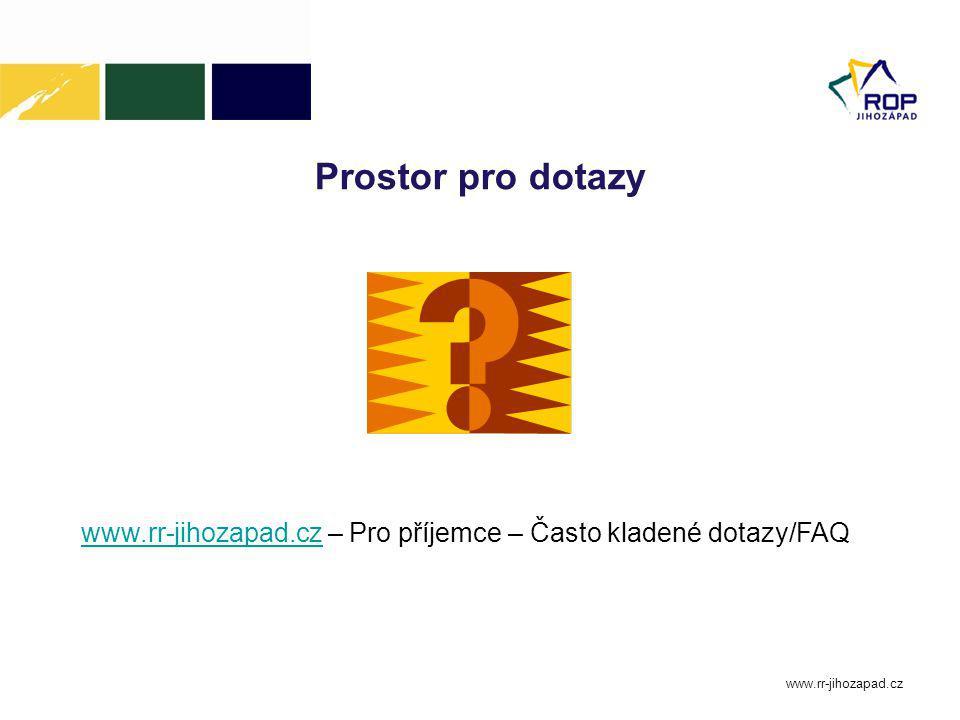 Prostor pro dotazy www.rr-jihozapad.cz – Pro příjemce – Často kladené dotazy/FAQ. www.rr-jihozapad.cz.