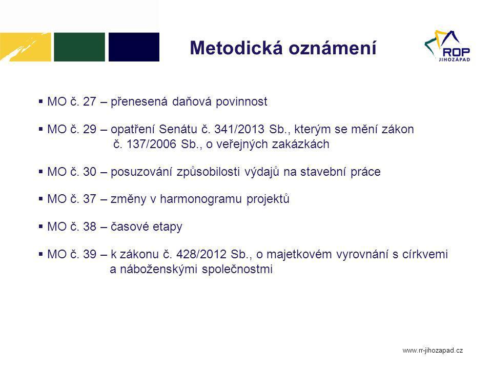 Metodická oznámení MO č. 27 – přenesená daňová povinnost
