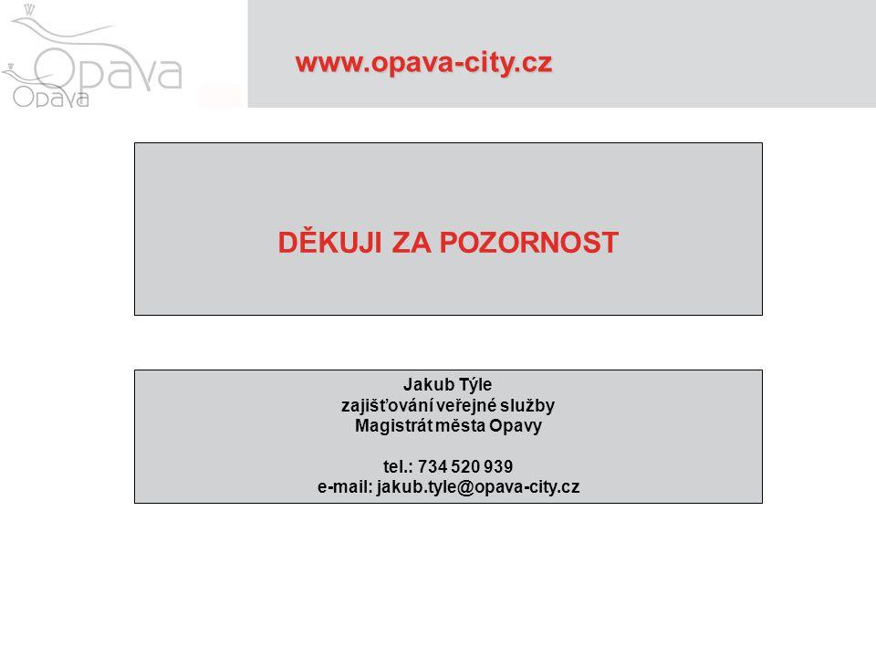 zajišťování veřejné služby e-mail: jakub.tyle@opava-city.cz