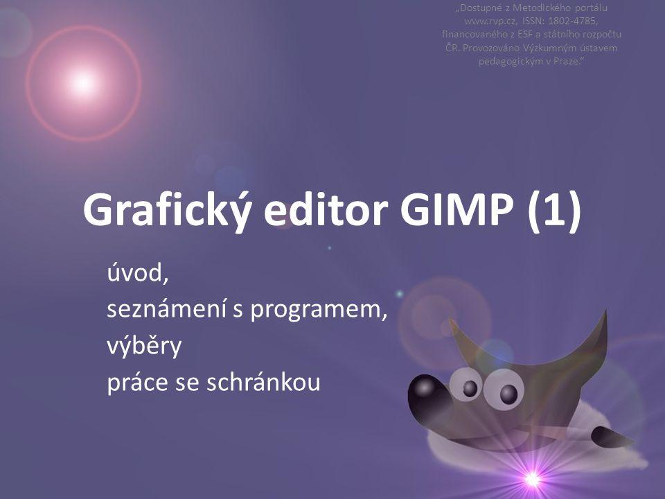 Grafický editor GIMP (1)