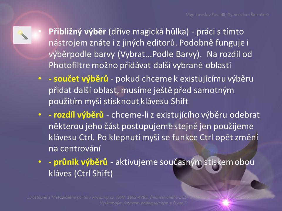 Mgr. Jaroslav Zavadil, Gymnázium Šternberk