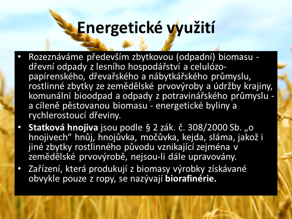 Energetické využití