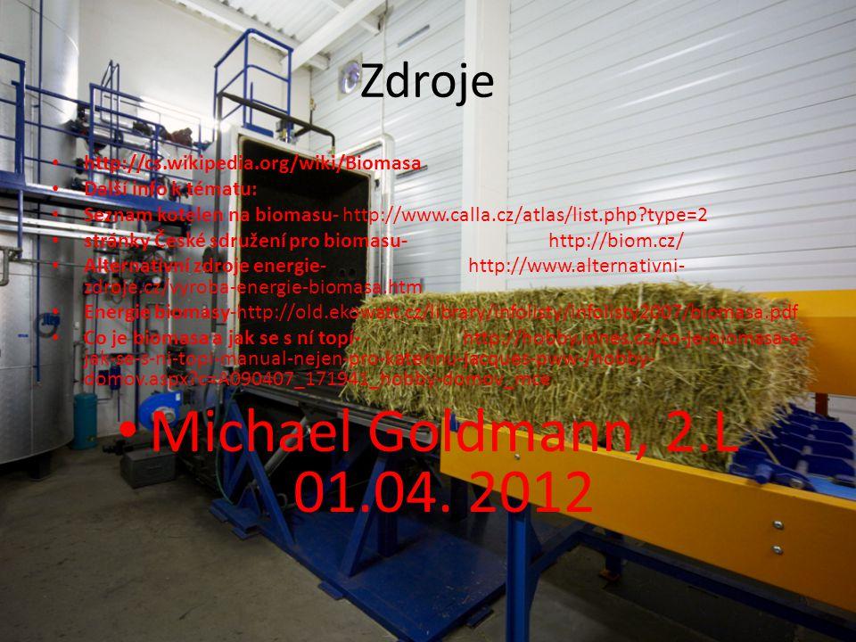Michael Goldmann, 2.L 01.04. 2012 Zdroje