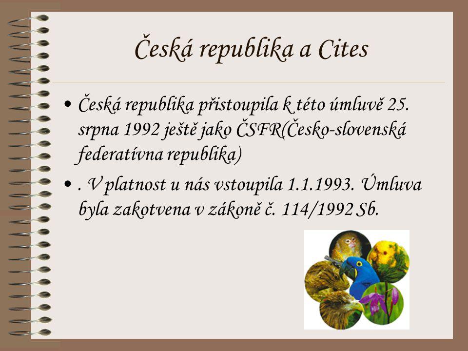 Česká republika a Cites