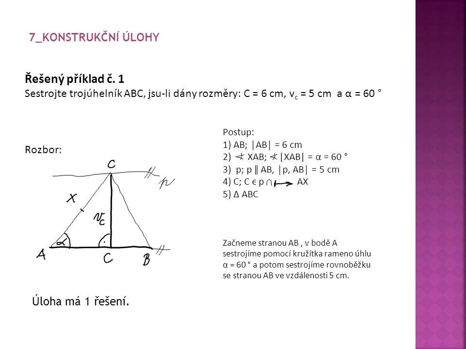 Řešený příklad č. 1 7_Konstrukční úlohy