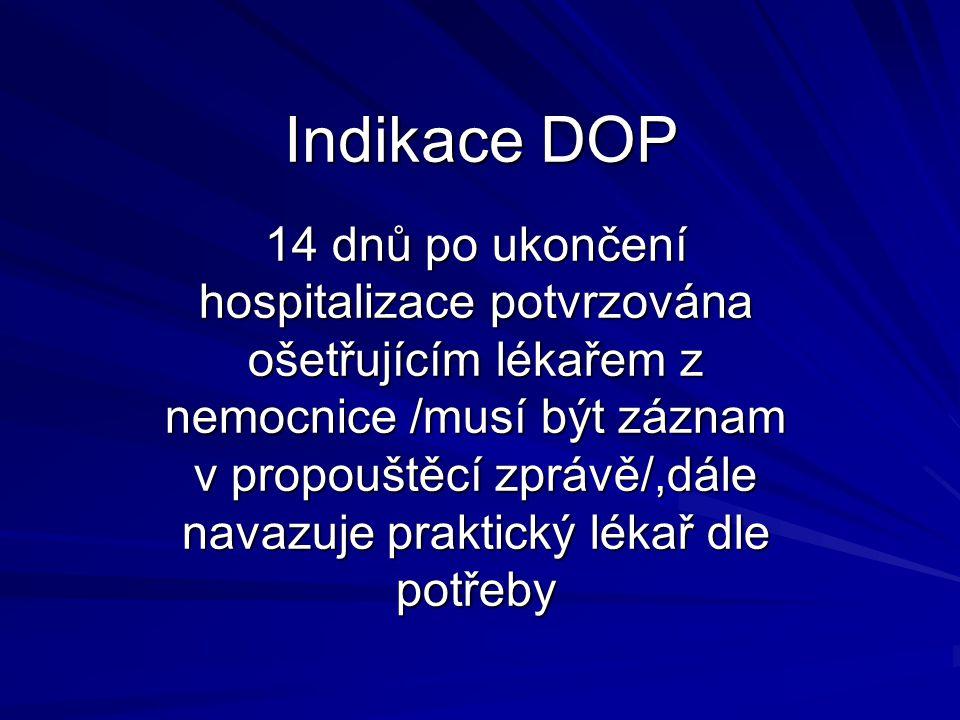 Indikace DOP