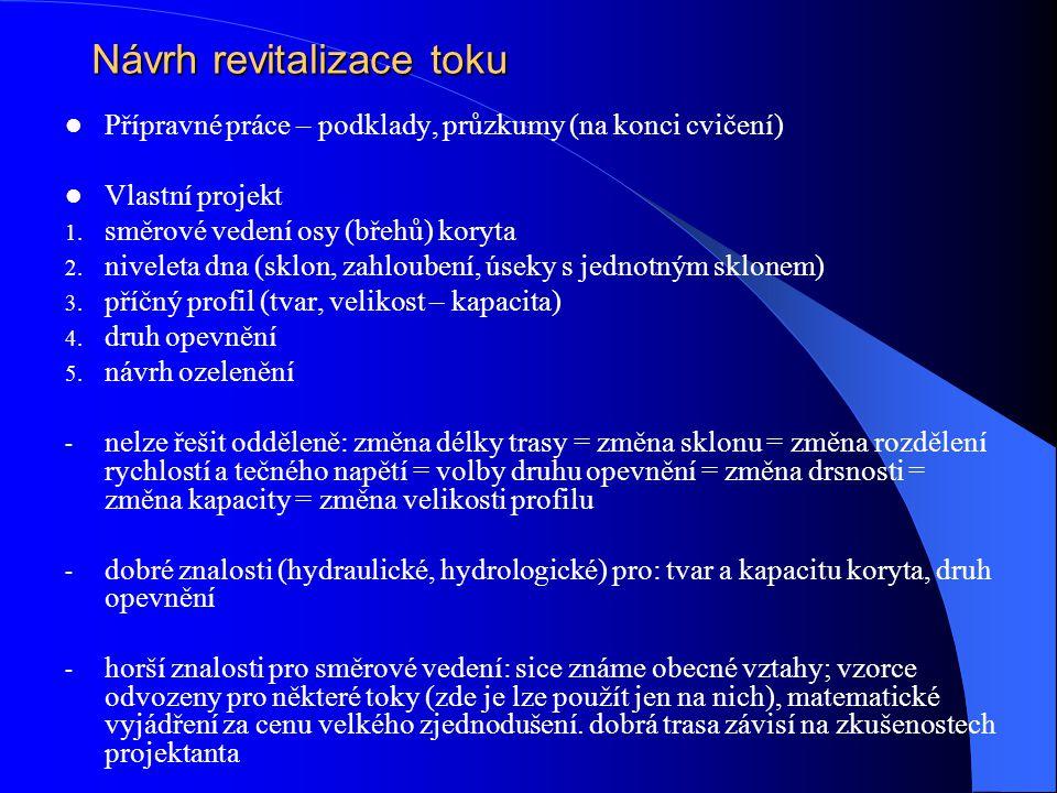 Návrh revitalizace toku