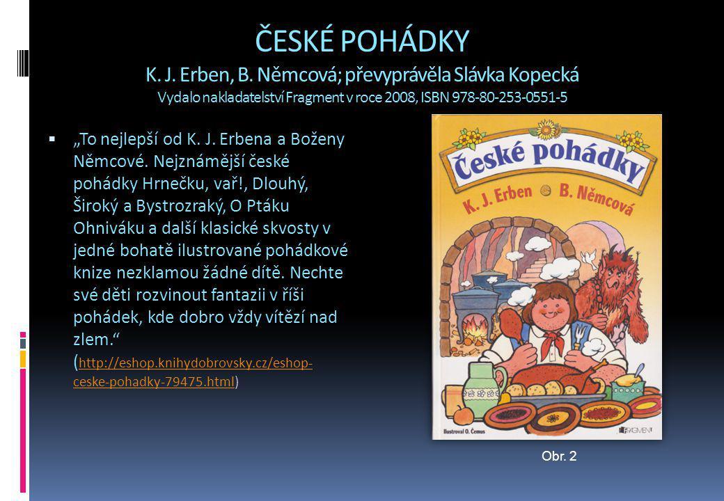 ČESKÉ POHÁDKY K. J. Erben, B
