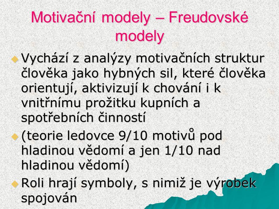 Motivační modely – Freudovské modely