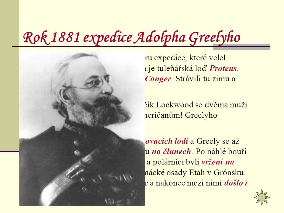 Rok 1881 expedice Adolpha Greelyho