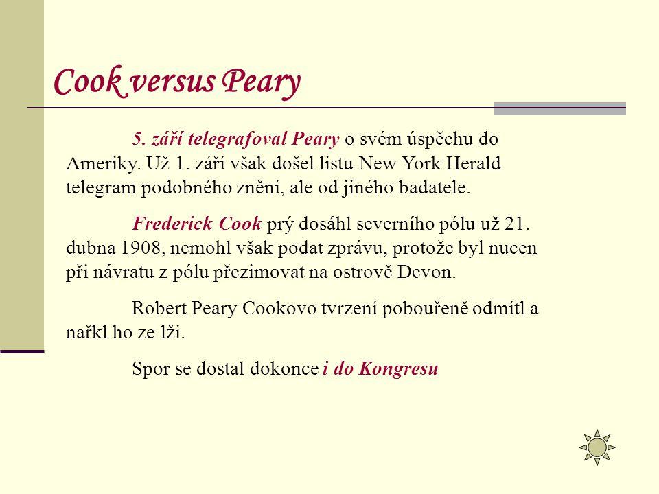 Cook versus Peary